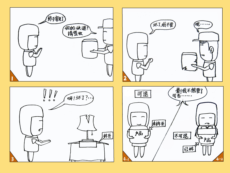 小学生手绘四格漫画